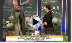 The Today Show featuring the Personal Valet! Great storage solutions for college