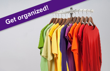 Get organized with our clothing racks!